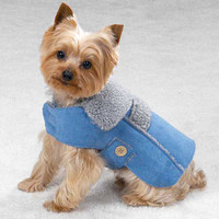 Faux Suede Dog Coat (M)