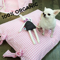 Louisdog Organic Pink Cushion