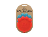 Paw Can Cover Set Red & Blue