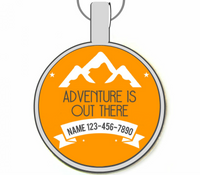 Adventure Is Out There Silver Pet ID Tag