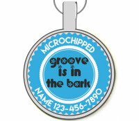 Groove Is In The Bark Silver Pet ID Tags