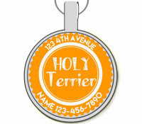 Holly Terrier Silver Pet ID Tags