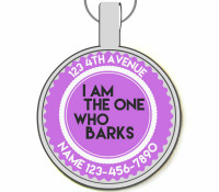 I Am The One Who Barks Silver Pet ID Tags
