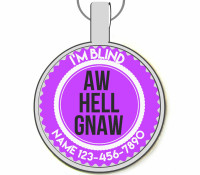 Aw Hell Gnaw Silver Pet ID Tags