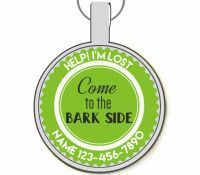 Come to the Bark Side Silver Pet ID Tags