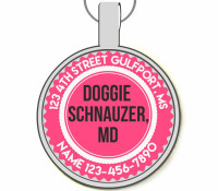 Doggie Schnauzer, MD Silver Pet ID Tags