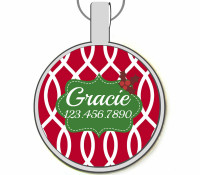 Holly Silver Pet ID Tags