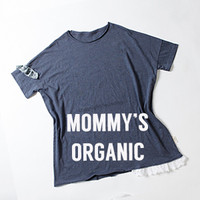 Louisdog Mommy's Organic Navy Tee