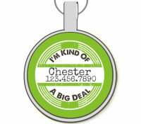 I'm Kind of a Big Deal Silver Pet ID Tags