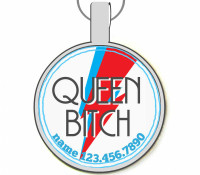 Queen Bitch Silver Pet ID Tags
