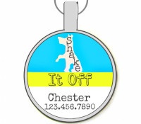 Shake It Off Silver Pet ID Tags