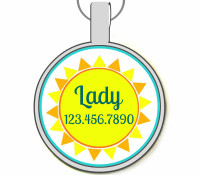 Sunshine Silver Pet ID Tags