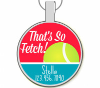 That's So Fetch Silver Pet ID Tags