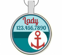 Yacht Club Silver Pet ID Tags