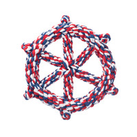 Patriotic Wheel Rope Dog Toy