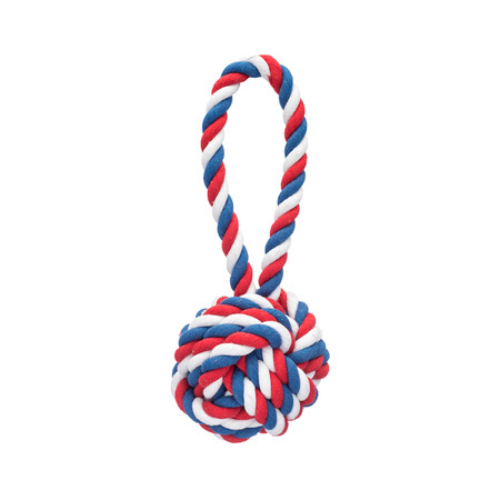 Patriotic Knot Rope Dog Toy