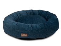 Printed Plush Velour Donut Dog Bed