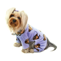 Silly Monkey Fleece Turtleneck Pajamas - Lavender