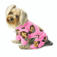 Silly Monkey Fleece Turtleneck Pajamas - Pink