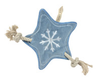 Holiday Winter Blue Star Stuffless Rope Toy