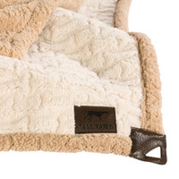 Embossed Cream Bone Micro Sherpa Blanket