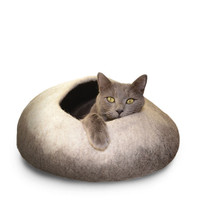 Natural Ombre Felted Cat Cave