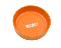 Etched Orange Meow Bowl