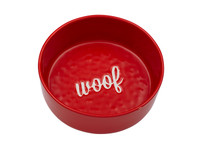 Etched Red Woof Bowl
