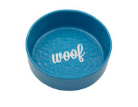Etched Blue Woof Bowl