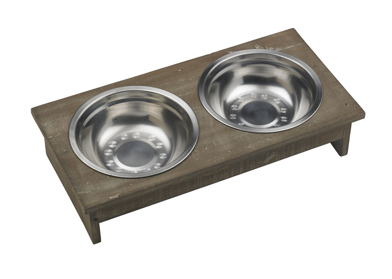 stainless steel dog bowl bowl set with rectangle stand