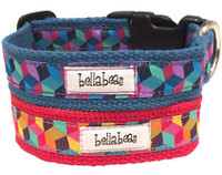 Cotton Tumbling Blocks Collar & Lead