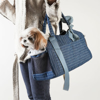 Louisdog Indigo Stripes Tote Bag