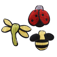 Plush Bugs Tough Dog Toys