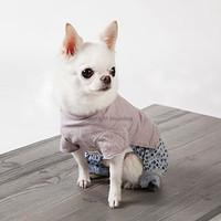 Louisdog Indigo Flowers Pants