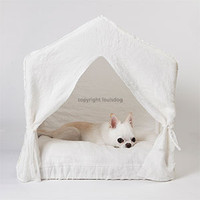 Louisdog Peekaboo White Linen House