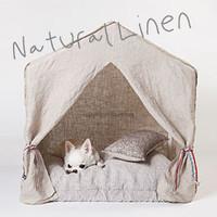 Louisdog Peekaboo Natural Linen Cabana