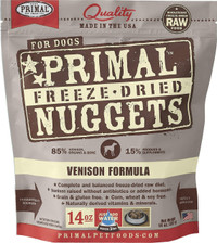 Primal Freeze-Dried Canine Venison Formula Food
