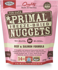 Primal Freeze-Dried Feline Beef & Salmon Formula Food