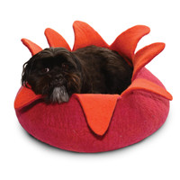 Magenta Petals Pet Basket