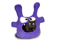 Purple Monster Felted Cat Cave