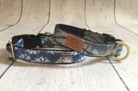 Vintage Indigo Shibori Collar & Lead
