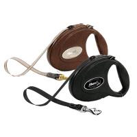 Flexi Leather Retractable Tape Leash