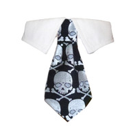 Crossbones Shirt Tie Collar