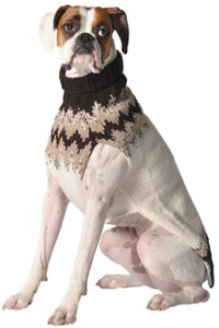 Natural Fairisle Dog Sweater