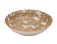 Patch Dog Shallow Bowl