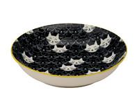Whisker Cat Shallow Bowl