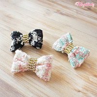 Wooflink Tweed Hairbow