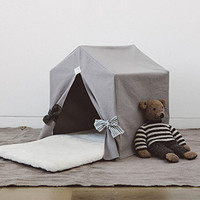 Louisdog Peekaboo Organic Oxford Grey House