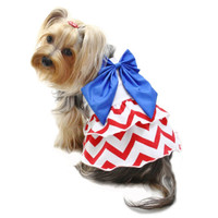 Red, White & Blue Large Bow Sundress