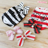 Wooflink Stripe Bow Brooch